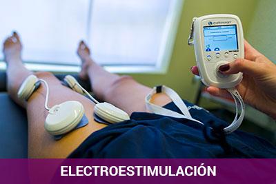 Electroestimulación en Clinica Luis Baños