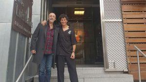 Santi Rodriguez en la Clínica Luis Baños