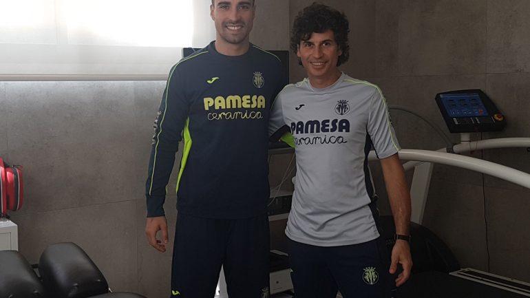 Sergio Asenjo con Luis Baños