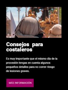 Banner consejos para costaleros - Clínica Luis Baños