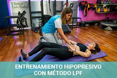 Entrenamiento hipopresivo con método LPF en Clínica Luis Baños de Jaén