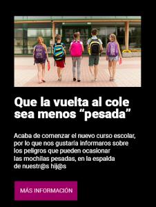 Uso correcto de la mochila - Clínica Luis Baños de Jaén