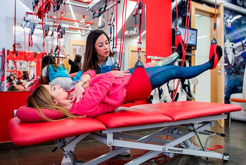 Redcord para dolor de cadera por bursitis trocantérea.